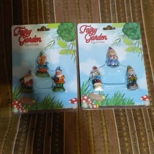 2 Sets of Fairy Garden Mini Gnomes